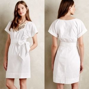 Anthro. HD in Paris Poplin Dress White Size 10